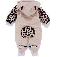 New Baby Toddler Boy Winter Outfits Hooded Coat Jumpsuit