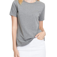LE3NO PREMIUM Womens Relaxed Fit Short Sleeve Cotton Jersey T Shirt