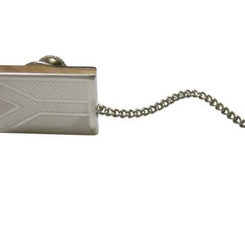 Silver Toned Etched South Africa Flag Tie Tack