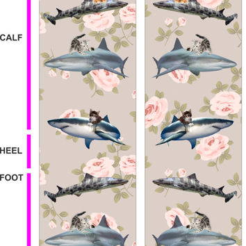 Sharks - Kittens - Roses Socks