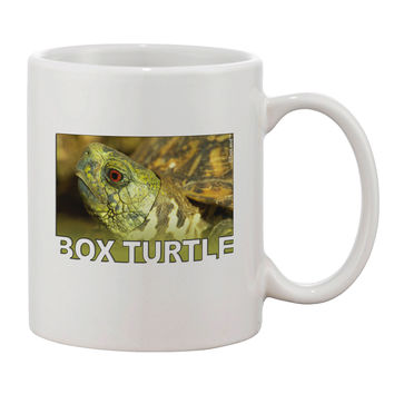 Menacing Turtle with Text Printed 11oz Coffee Mug