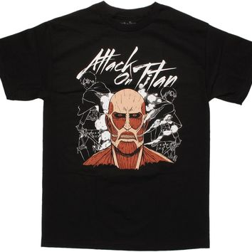 Attack on Titan Colossal Titan Head Collage T-Shirt