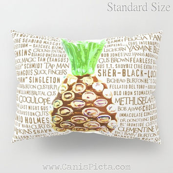 Psych Pillow Sham TV Show Standard King Cushion Decorative Funny Quote Bedroom Bed Art Decor Fan Pineapple Shawn Gus Television Gift Humor