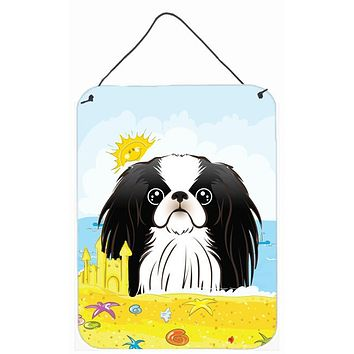 Japanese Chin Summer Beach Wall or Door Hanging Prints BB2098DS1216