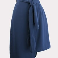 Above & Beyond Blue Wrap Skirt