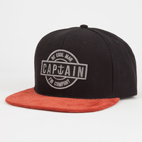 Captain Fin Iceman Mens Snapback Hat Black One Size For Men 26688610001