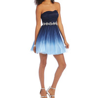 B. Darlin Strapless Ombre Party Dress | Dillards