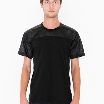 American Apparel- Athletic Contrast Tee- Black