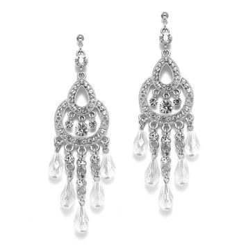 Art Deco Vintage Chandelier Wedding Earrings