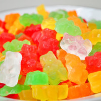 Gummi Bear Soaps - 3 oz - mixed fruit scented - food soap - red, green, yellow, orange