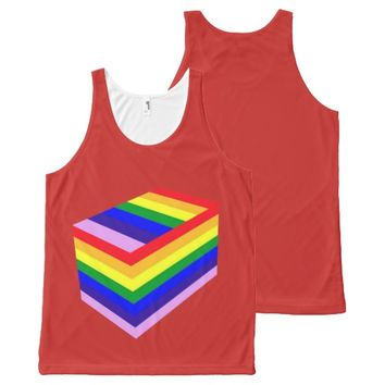 RAINBOW BOX PRIDE All-Over Printed Unisex Tank