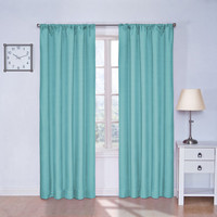 Eclipse Kids Kendall Turquoise 63 Inch Blackout Window Curtain Panel Ellery Homestyles Pan