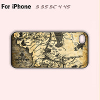 The Lord of the Rings,Mordor Map,iPhone 5 case,iPhone 5C Case,iPhone 5S Case, Phone case,iPhone 4 Case, iPhone 4S Case
