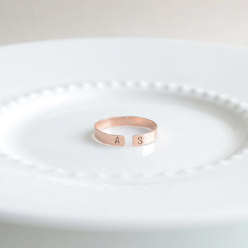 Initial ring - adjustable letter ring - 4226