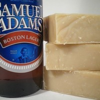 $5.50 Sammy Boy Beer Soap Made with Sam Adams Beer by pinkparchmentsoaps