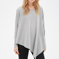 Oversized Asymmetrical Batwing Top