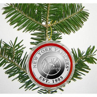 New York Yankees Silver Coin Ornament