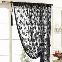 Door Curtain Window Butterfly Pattern Tassel String Room Curtain Divider Scarf = 1958178756