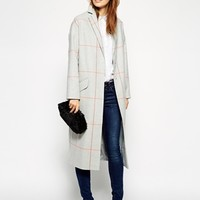 ASOS Duster Coat In Check at asos.com