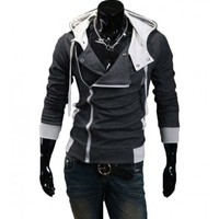 The Assasin Hoodie Charcoal - leatherandcotton