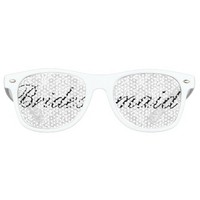 White Damask Bridesmaid Bachelorette Party Glasses