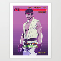 GAME OF THRONES 80/90s ERA CHARACTERS - Oberyn Art Print by Mike Wrobel