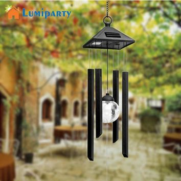 Garden Yard Decoration Solar Light Hanging Wind Chimes Solar Powered Color Changing Wind Chimes Rotating LED Light