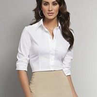 New York  & Company - View All - Classic Stretch Button Front Shirt