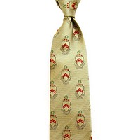 Phi Kappa Tau Neck Tie in Gold by Dogwood Black