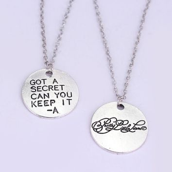 Fashion Jewelry Movie Pretty Little Liars Got A Secret Can You Keep It Message Charm Necklace