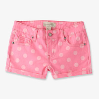 Rhinestoned Polka Dot Denim Shorts