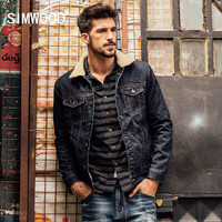 SIMWOOD 2016 New Winter Fashion  Denim Jacket Men Casual Jeans Coats  Outerwear Thicken Slim Fit  Brand Clothing NJ6515
