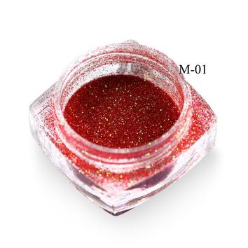 SWEET TREND 1g/Bottle New Colorful Mermaid Effect Nail Glitter Nail Art Decoration Tip Sparkly Powder Dust Nail Tool LAM01-12