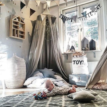 Kids Baby Bedding Dome Bed Canopy Netting Bedcover Mosquito Net