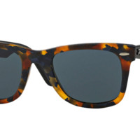 Ray Ban Wayfarer Sunglass Spotted Blue Havana with Grey Lens RB2140 1188R5