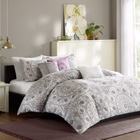 Madison Park Seville 6-pc. Duvet Cover Set - King
