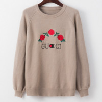 GUCCI Embroidered flower sweater