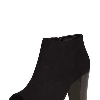Black 'Alex' Peep Toe Boots - View All New In - New In