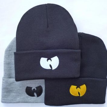 High Quality New Fashion Winter WU TANG CLAN Beanie Hats For Women Men Unisex Acrylic Black Knitted Caps Gorro Tocas