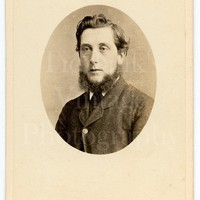 CDV Carte de Visite Photo Victorian Bearded Handsome Smart Man, Mutton Chops Oval Portrait - Antique Photograph