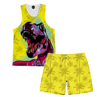 Dino Bite Tank Tank And Shorts Rave Outfit