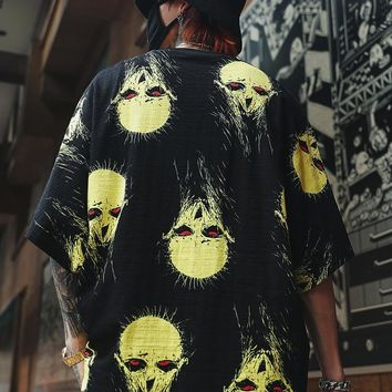 Dark Icon Monster Summer Hawaii Style Men's Street Shirt