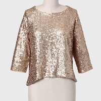 Tinsel Town Sequined Top