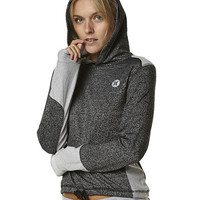 HURLEY FAST LANE WOMENS DRI FIT POP FLEECE - HEATHER BLACK