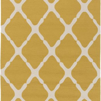 Rain Area Rug Yellow