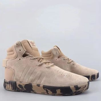 Adidas Tubular Invader Strap Fashion Casual High-Top Old Skool Shoes-4