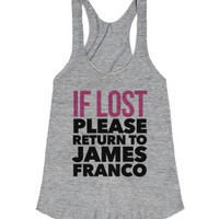 If Lost Please Return to James Franco-Female Athletic Grey T-Shirt