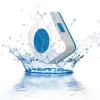 AquaAudio Waterproof Bluetooth Cube Shower Speaker (Blue)