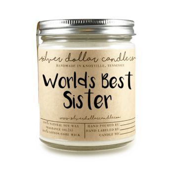 World's Best Sister Candle - 8oz Soy Candle