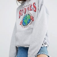 Reclaimed Vintage Oversized Hoodie With Rolling Stones Tour Print at asos.com
